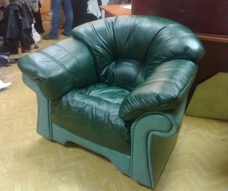Перетяжка кресла кожей — Ателье по коже