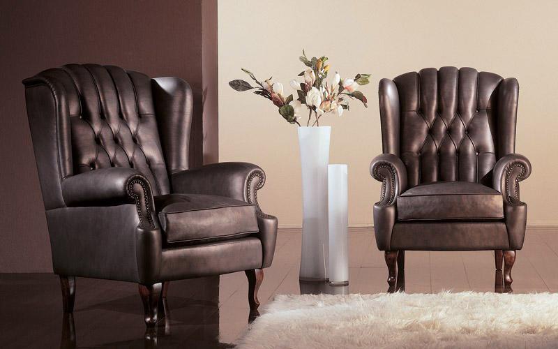 Кресла кожаные с каретной стяжкой — «Ателье по коже»