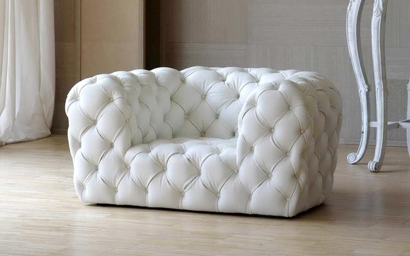 Кожаный диван с капитоне ромбами — «Ателье по коже»