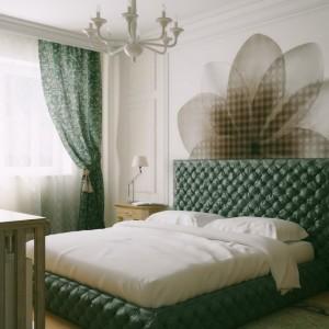 Кровать с мягким изголовьем кожа