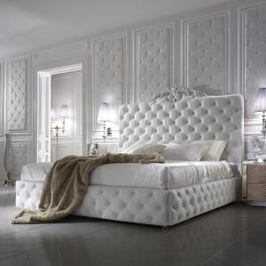 Кровать с мягким изголовьем каретная стяжка — Ателье по коже Чебоксары