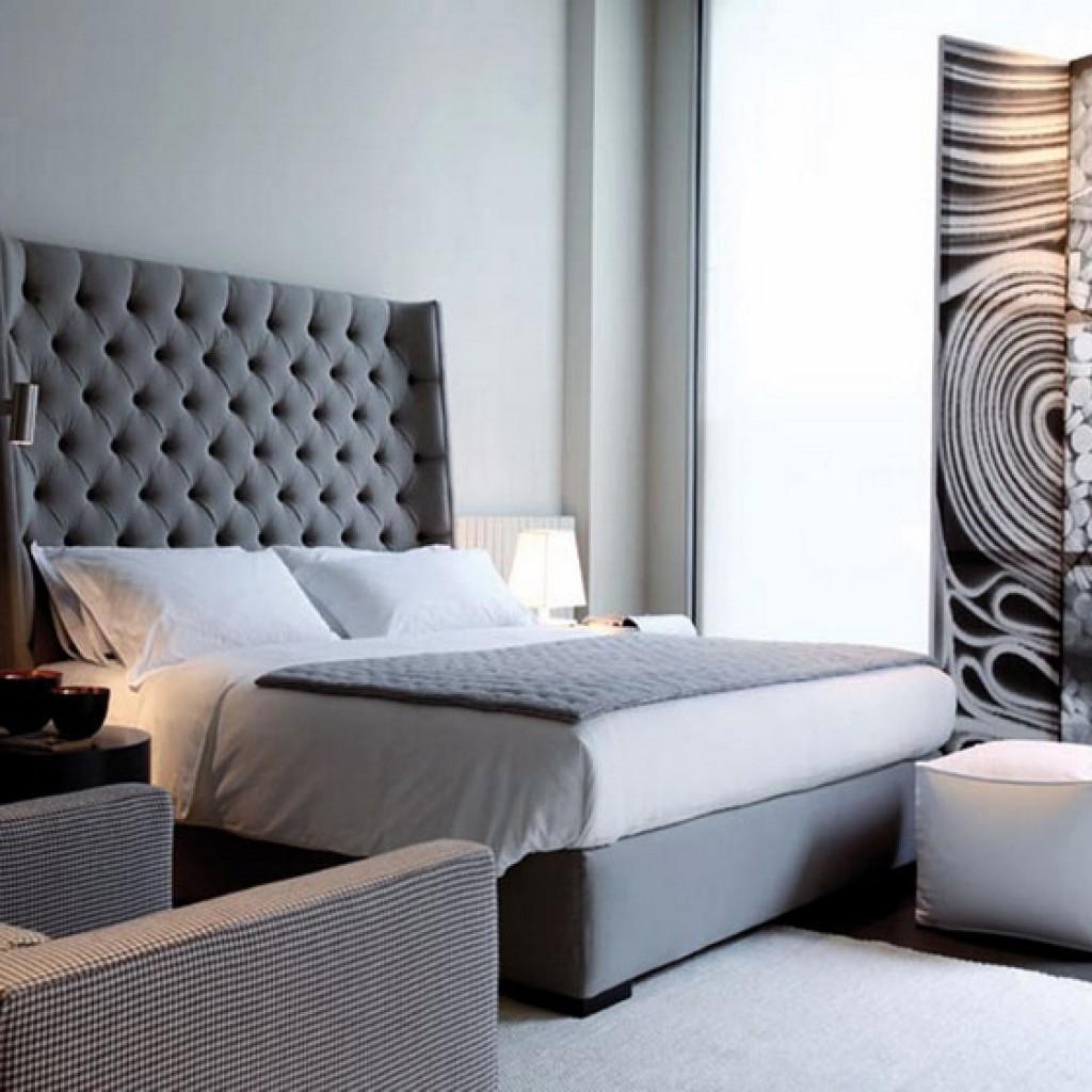 Кровати с мягким изголовьем в интерьере фото