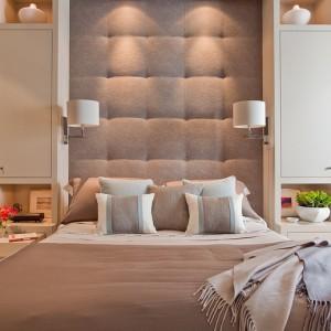 Кровать с мягким изголовьем ткань — Ателье по коже