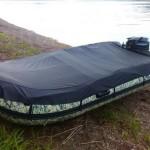 Тент стояночный транспортировочный на лодку ПВХ — Ателье по коже