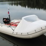 Тент носовой с окном на лодку ПВХ — Ателье по коже