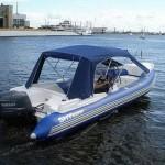 Тент ходовой на лодку ПВХ — Ателье по коже