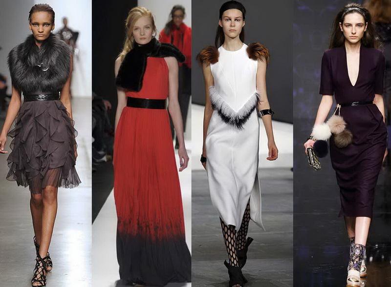 Меховые помпоны для платья — Ателье по коже
