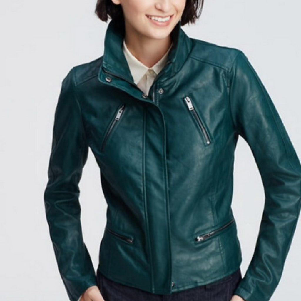 Кожаная женская куртка-бомбер на заказ — модный хит сезона
