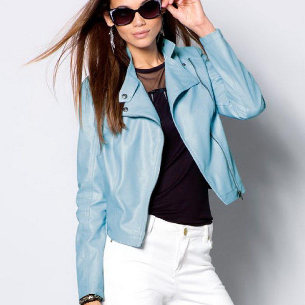 Качественная женская кожаная куртка-косуха на заказ