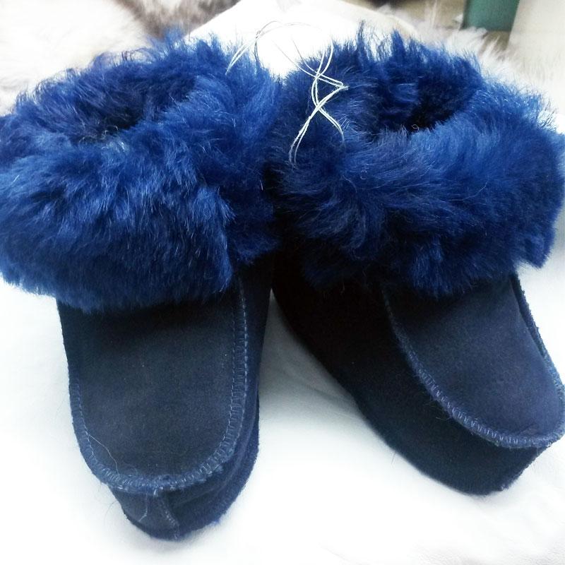 Домашняя обувь тапочки чуни на заказ в Ателье по коже
