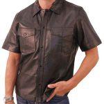 Кожаная рубашка по индивидуальному заказу в «Ателье по коже»