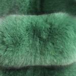 Песец вуалевый зеленый — Ателье по коже