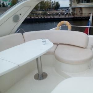 Перетяжка сидений на яхте - Ателье по коже