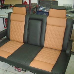 Перетяжка задних сидений авто — Ателье по коже