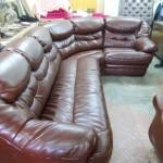 Перетяжка дивана кожей — Ателье по коже