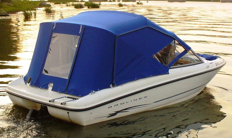 Тент-палатка на катер заказать в «Ателье по коже» Чебоксары.