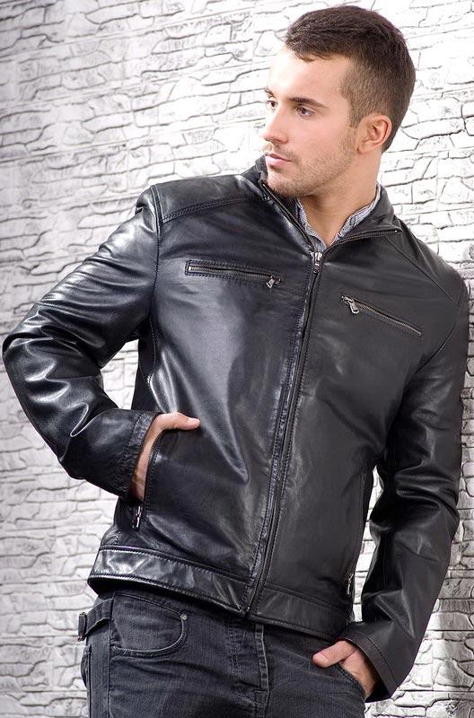 Мужская кожаная куртка с втачными карманами — Ателье по коже Чебоксары