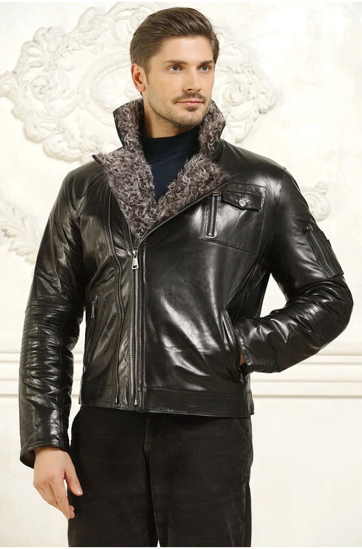 Мужская зимняя кожаная куртка косуха — Ателье по коже Чебоксары