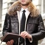 Мужская кожаная куртка натуральный мех — Ателье по коже Чебоксары