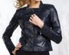 Куртка кожаная женская на пуговицах