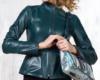 Двусторонняя кожаная женская куртка
