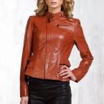 Кожаная женская куртка с баской — Ателье по коже Чебоксары