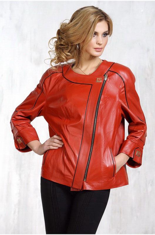 Красная кожаная женская куртка — Ателье по коже Чебоксары