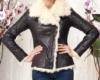 Кожаная женская куртка на меху