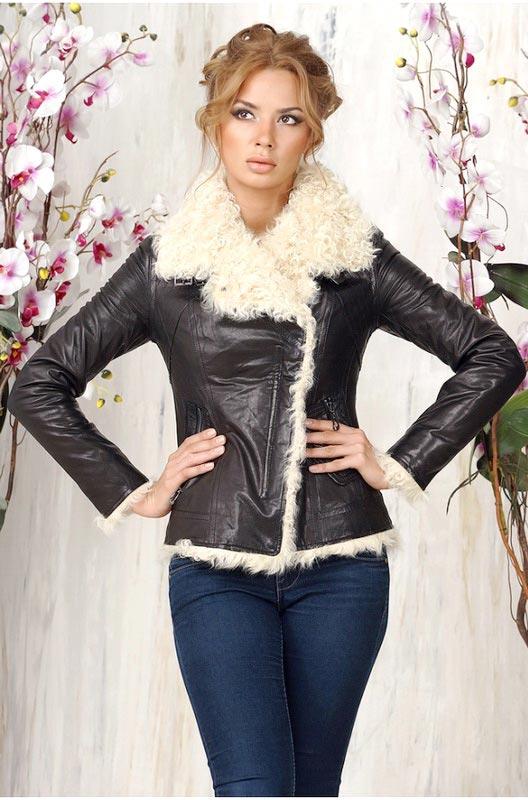 Кожаная женская куртка на меху — Ателье по коже Чебоксары