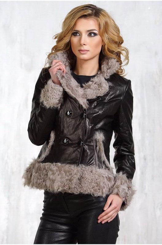 Зимняя женская кожаная куртка без капюшона — Ателье по коже Чебоксары