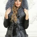 Женская кожаная куртка на зиму с капюшоном — Ателье по коже Чебоксары