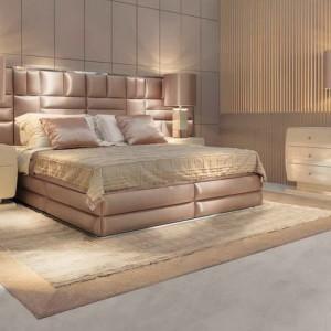Кровать и изголовье с декоративной обивкой — Ателье по коже Чебоксары