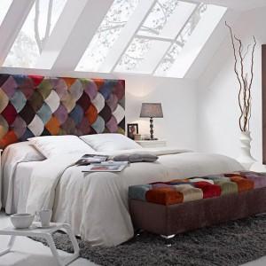Мягкая стенка кровати в стиле пэчворк — Ателье по коже Чебоксары