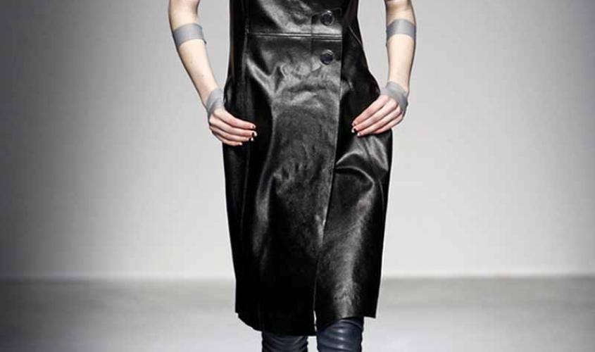 Платье кожаное пошив на заказ Ателье по коже - 42