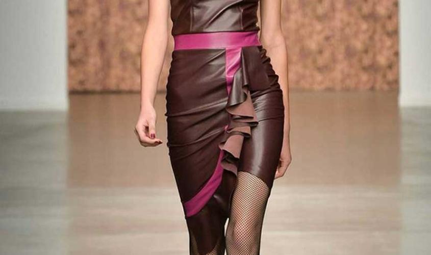 Платье кожаное пошив на заказ Ателье по коже - 58