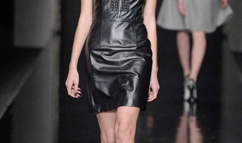 Платье кожаное пошив на заказ Ателье по коже - 61