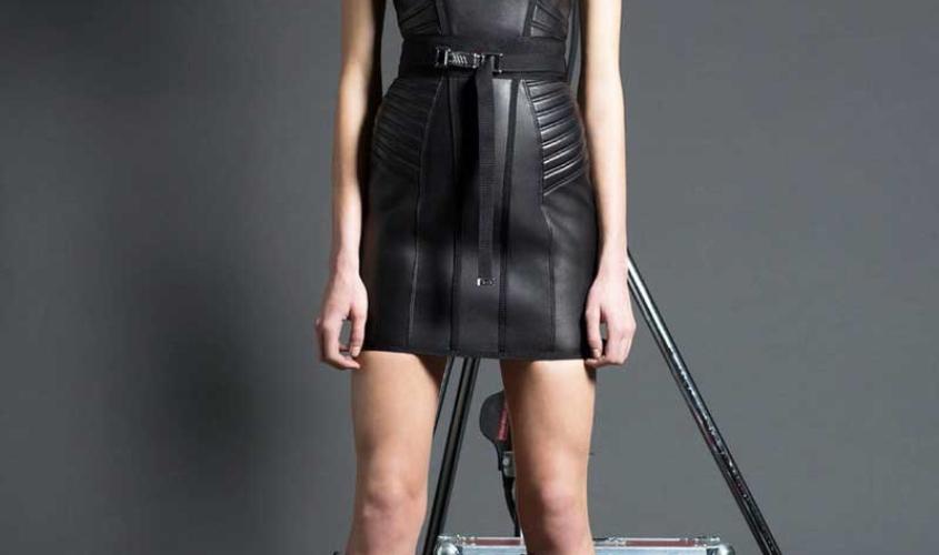 Платье кожаное пошив на заказ Ателье по коже - 77