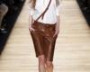 Кожаные шорты женские