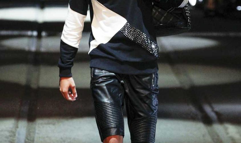 Кожаные шорты мужские