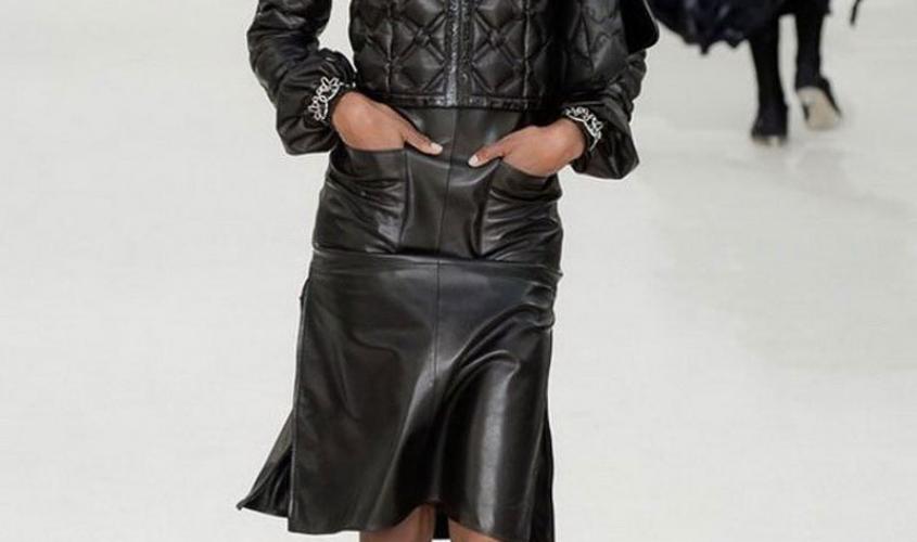 Кожаные юбки пошив на заказ Ателье по коже - 61