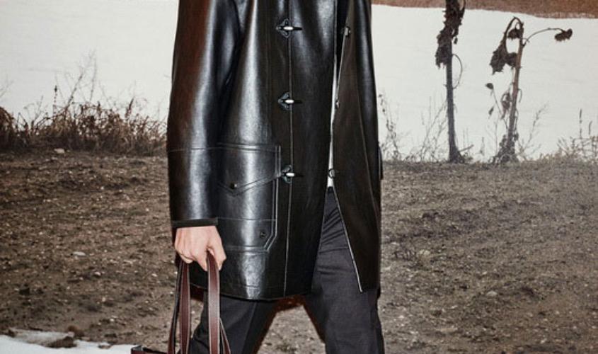 Кожаный плащ мужской пошив в Ателье по коже - 47