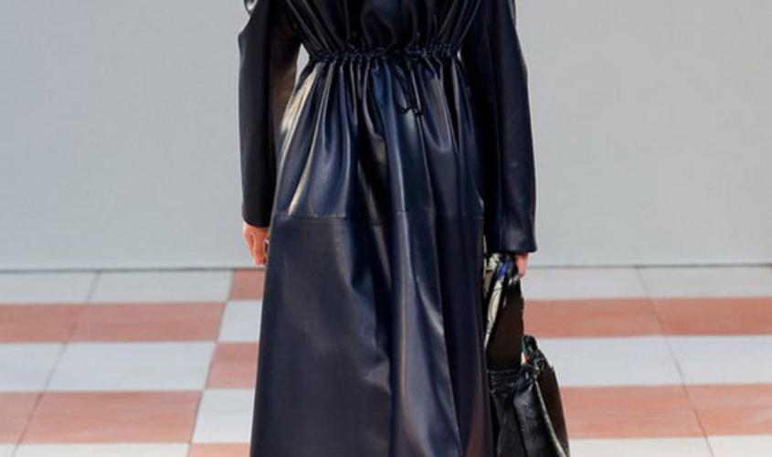 Кожаный плащ женский пошив в Ателье по коже - 48