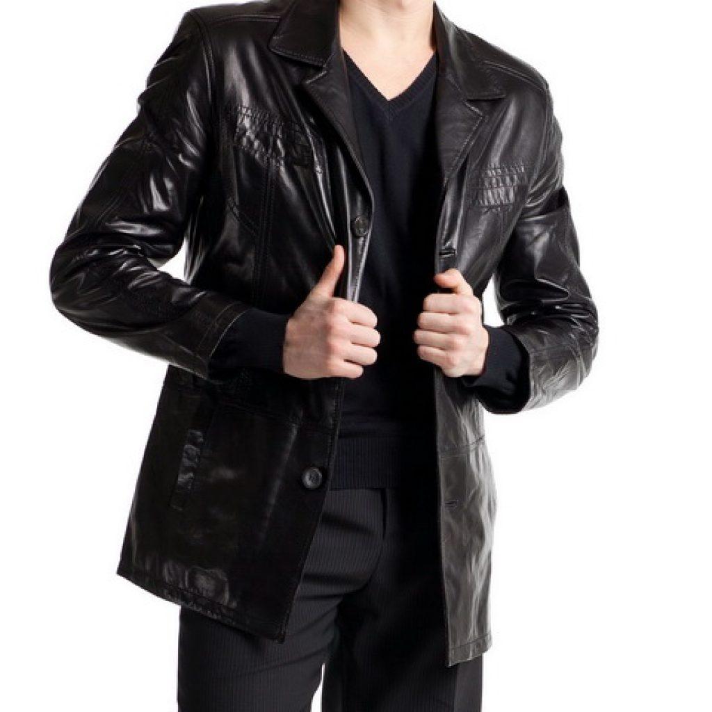 Кожаный пиджак мужской пошив на заказ в Ателье по коже Чебоксары - фото 1