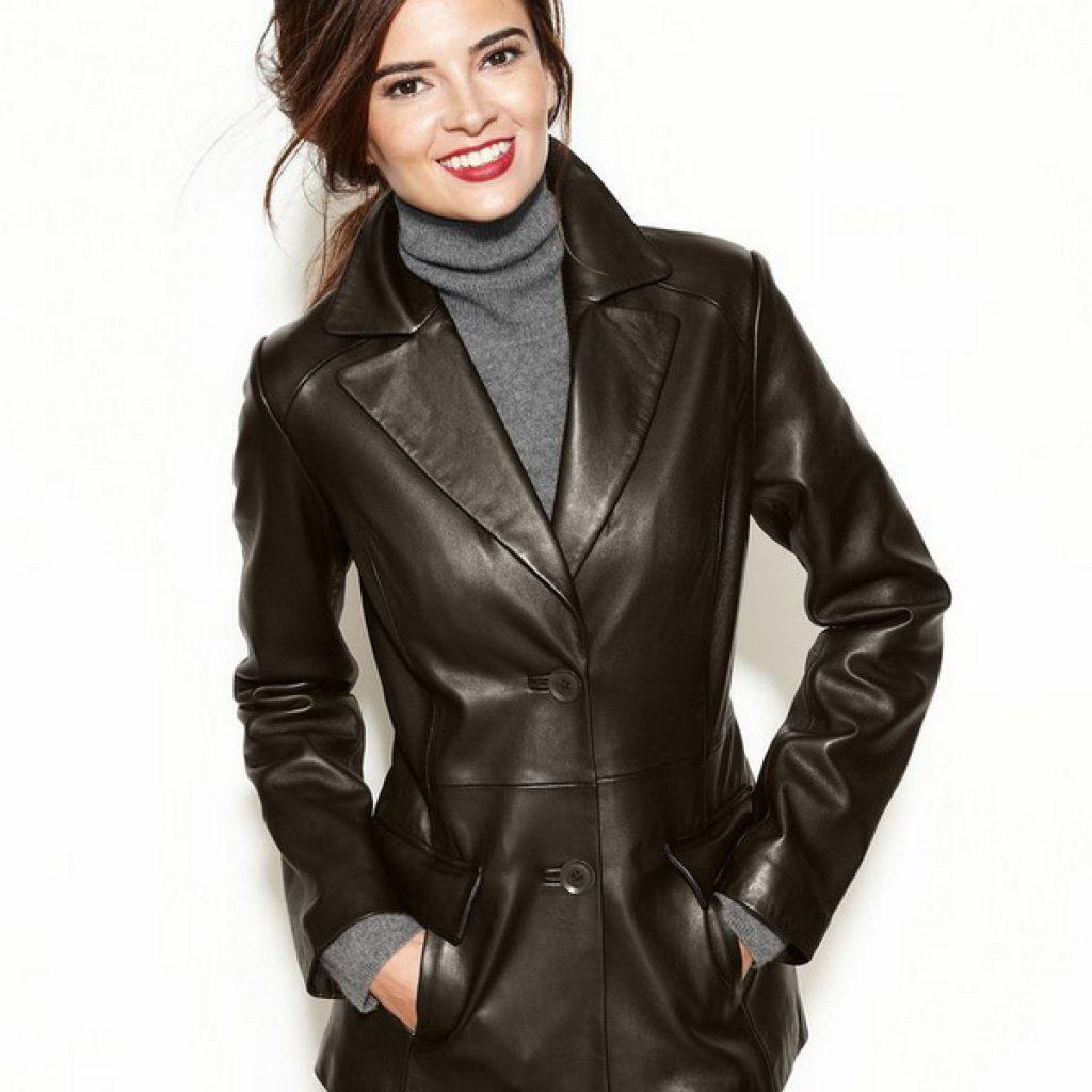 Кожаный пиджак женский пошив на заказ в Ателье по коже Чебоксары - фото 3