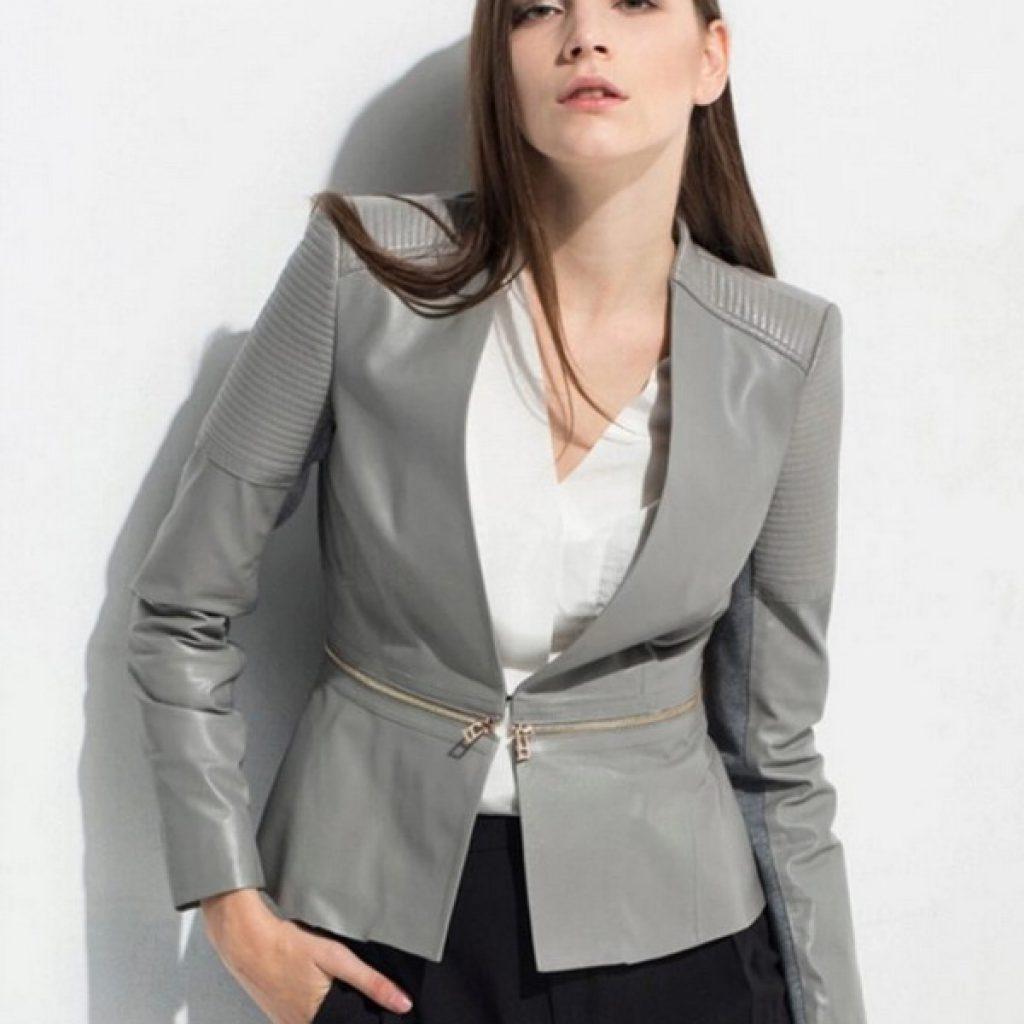 Кожаный пиджак женский пошив на заказ в Ателье по коже Чебоксары - фото 4