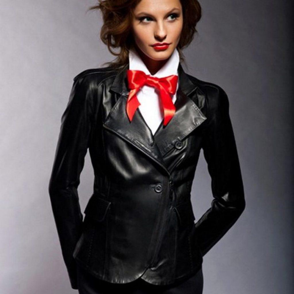 Кожаный пиджак женский пошив на заказ в Ателье по коже Чебоксары - фото 5