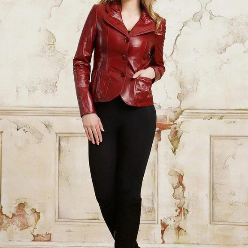 Кожаный пиджак женский пошив на заказ в Ателье по коже Чебоксары - фото 6