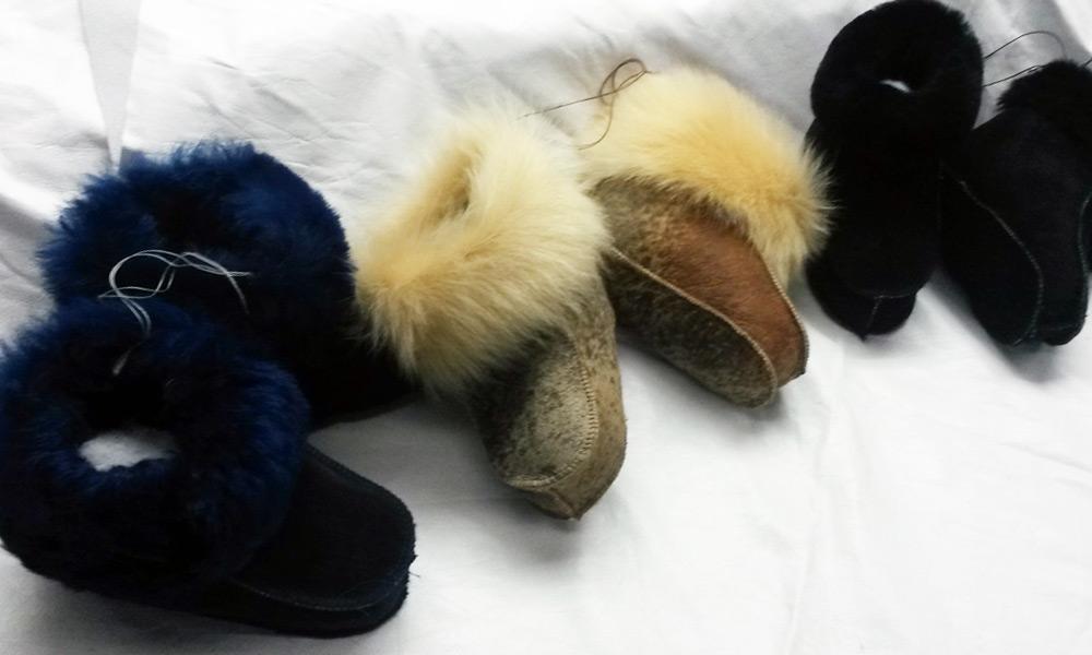 Чуни из натуральной овчины на заказ в Ателье по коже