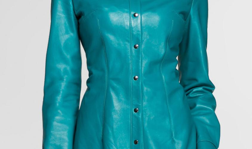 Женские рубашки кожаные пошив на заказ в Ателье по коже Чебоксары - 14