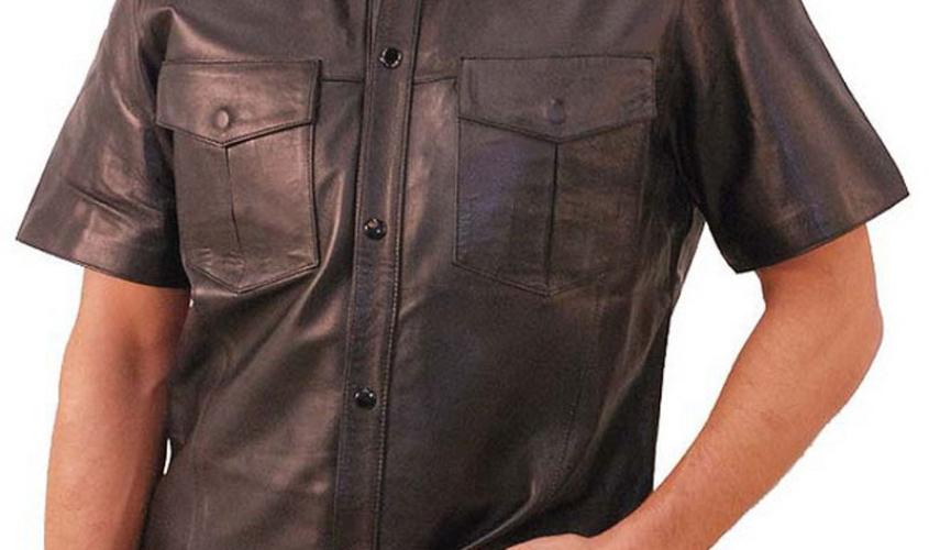 Мужские рубашки кожаные пошив на заказ в Ателье по коже Чебоксары - 15